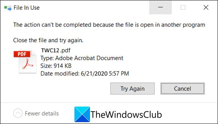 Cómo saber qué proceso está bloqueando un archivo en Windows 10