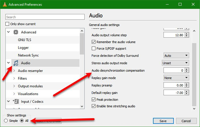¿Cómo soluciono el retraso de audio en VLC Media Player?