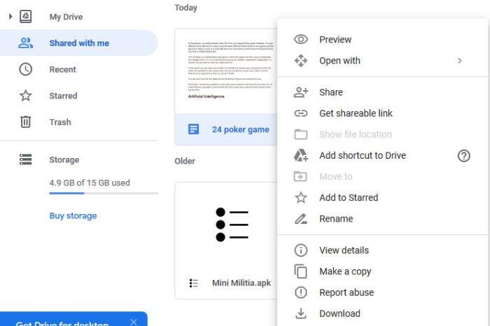 Transferir archivos de una cuenta de archivos de Google Drive a otra