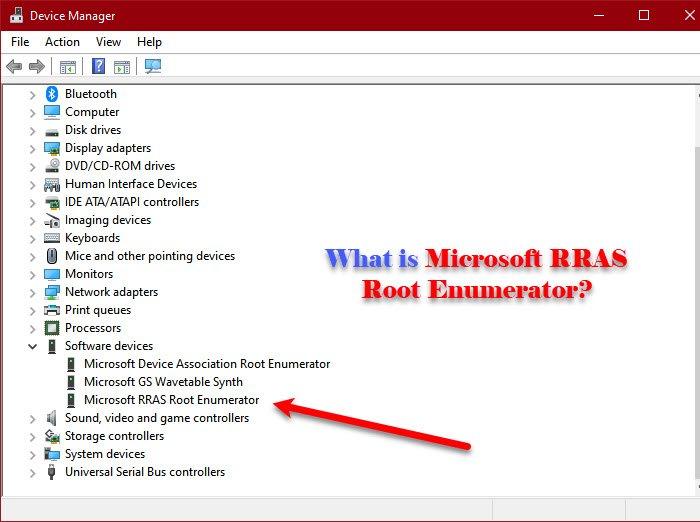 Enumerador raíz de RRAS de Microsoft