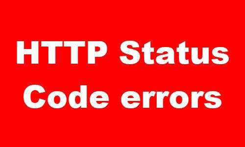 Errores de código de estado HTTP