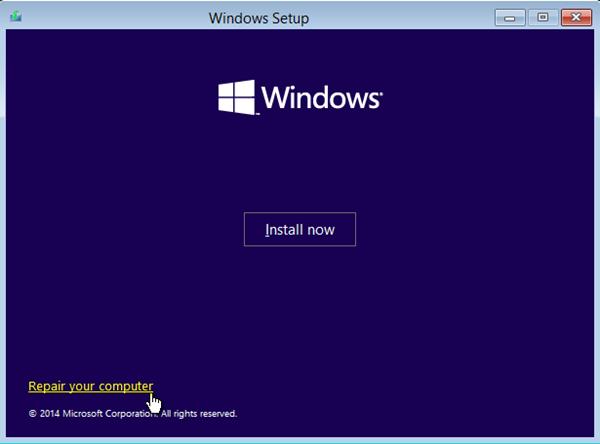 reparar la configuración de Windows de su computadora