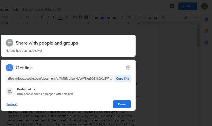 Copie los archivos de Google Docs automáticamente cuando se compartan