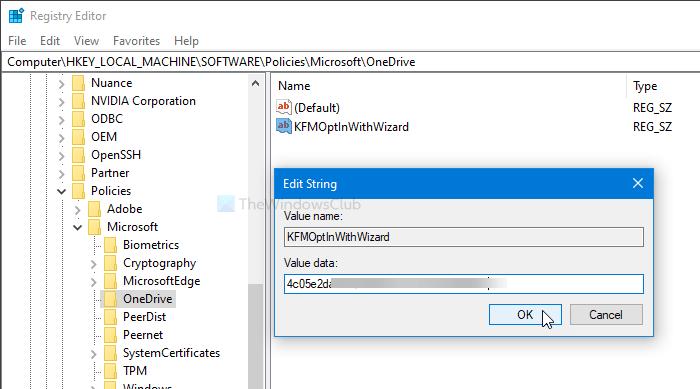 Mostrar notificación a los usuarios para mover carpetas conocidas de Windows a OneDrive
