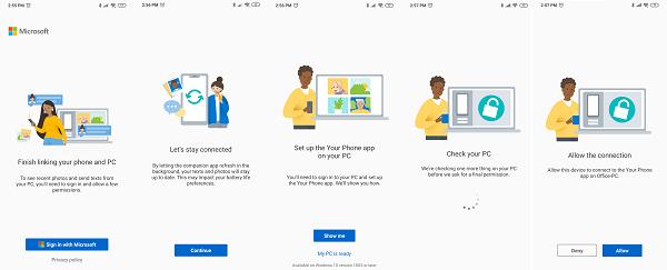 Vincula la aplicación de tu teléfono desde el teléfono a la PC