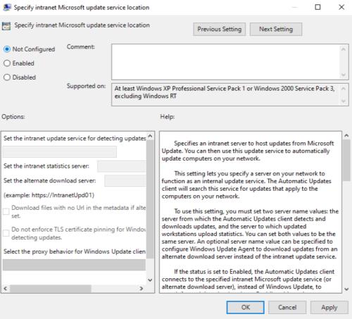 Error de WSUS 80072EE6