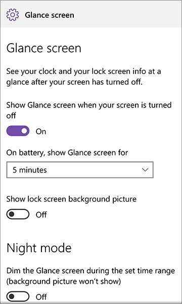 notificación vistazo windows 10 móvil