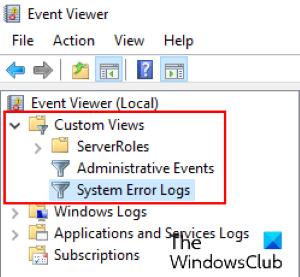 buscar archivos de registro BSOD Windows 10_3
