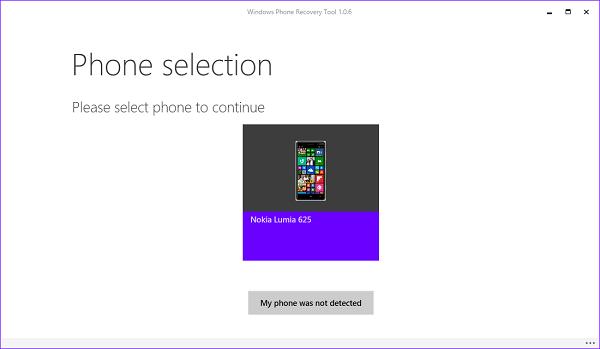 Herramienta de recuperación de Windows Phone