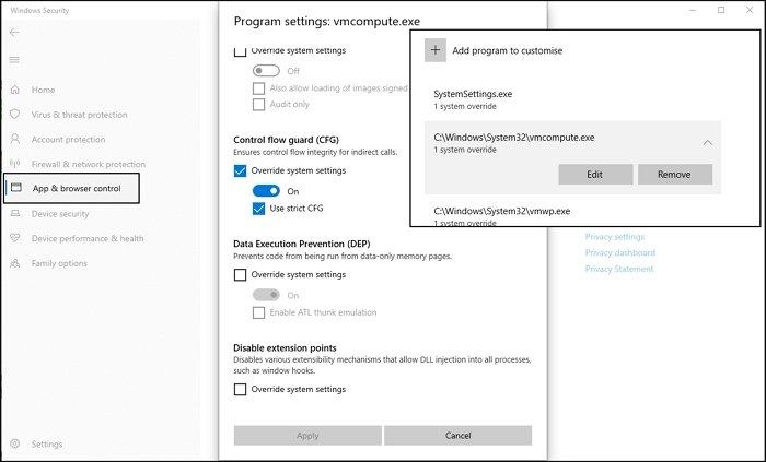 CFG Override Hyper-V Host Compute Service
