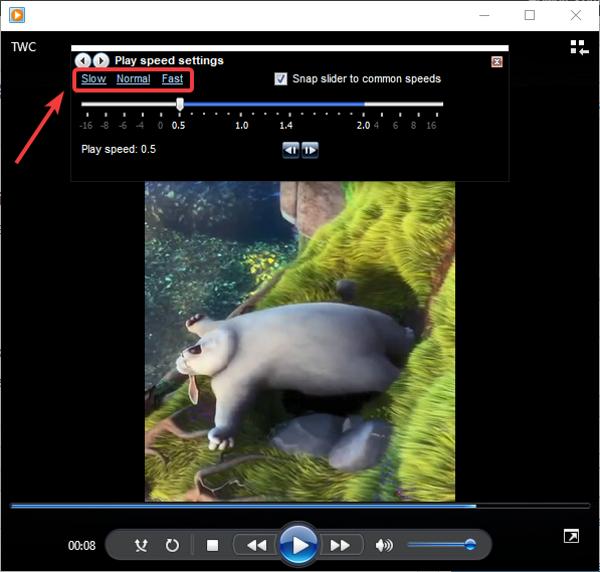 Cómo cambiar la velocidad de reproducción de video en Windows 10