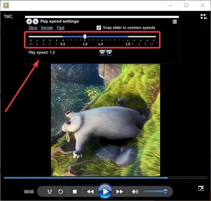 Cómo cambiar la velocidad de reproducción de video en Windows Media Player