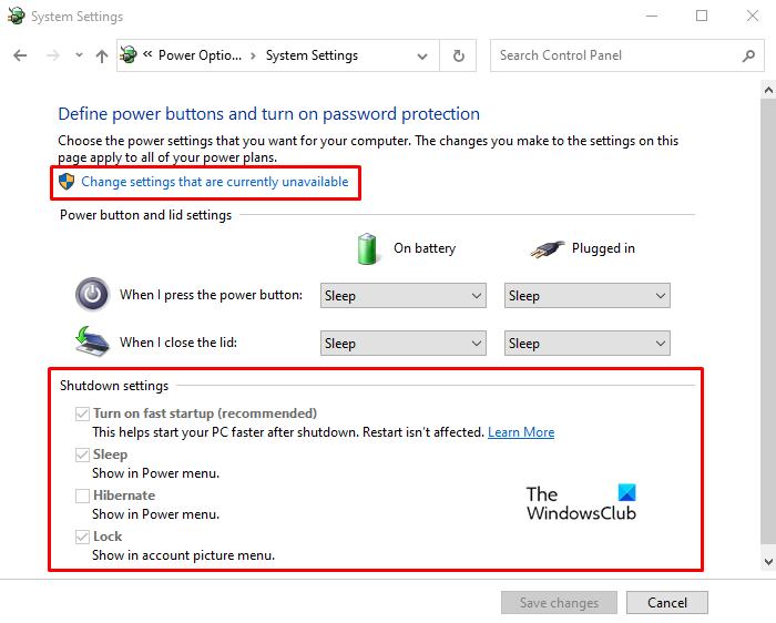Active la opción de inicio rápido que falta en Windows 10