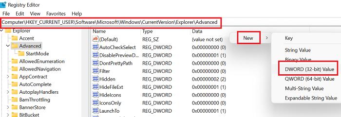 Regrese al menú Inicio clásico en Windows 11 usando el Registro