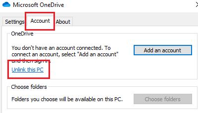 Desvincular esta PC