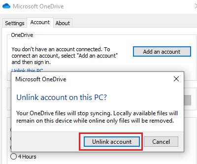 Error de OneDrive 0x8004de34