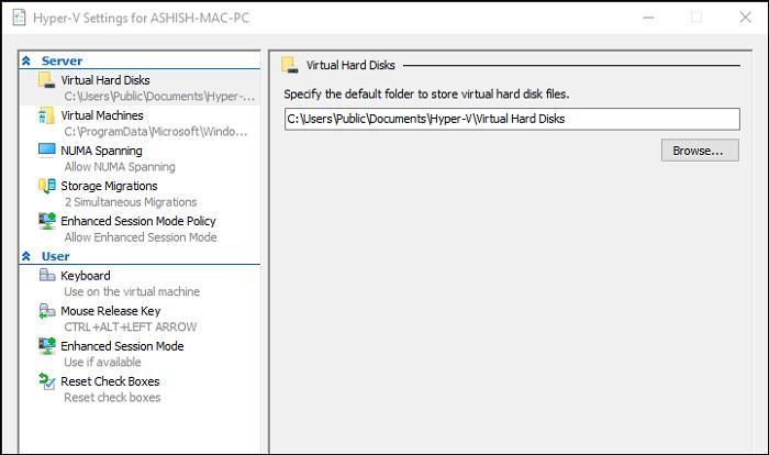 Configuración de Hyper-V Windows
