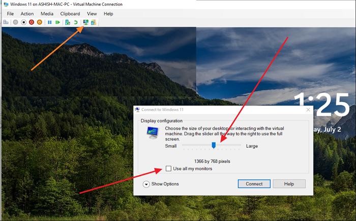 Sesión mejorada de Windows 11