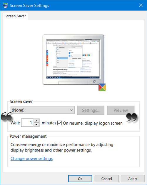 bloquear la computadora después de la inactividad en Windows 10