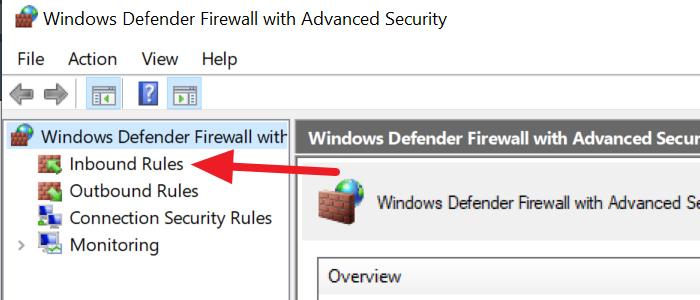 Seguridad avanzada del Firewall de Windows Defender