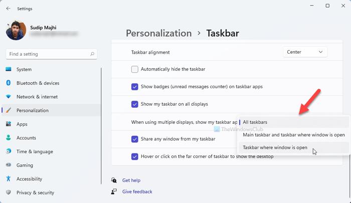 Cómo mostrar la barra de tareas en varios monitores en Windows 11