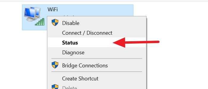 Estado del adaptador de red