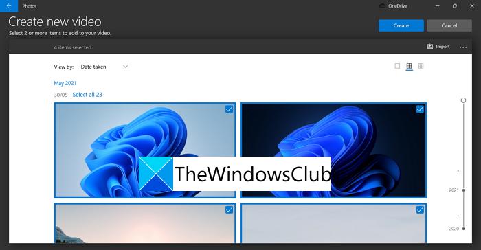 Crear video nuevo Windows 11
