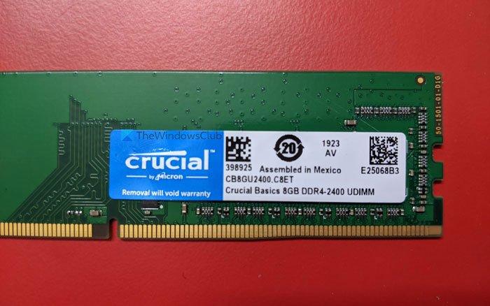 Cómo verificar la velocidad de RAM en Windows 11/10