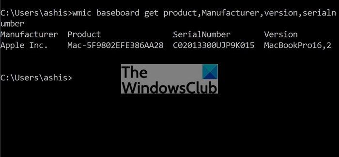 Buscar modelo de placa base sin símbolo del sistema WMIC