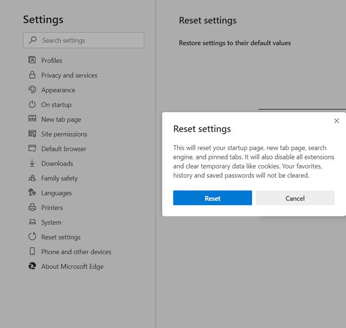 Microsoft Edge no funciona en sitios web bancarios