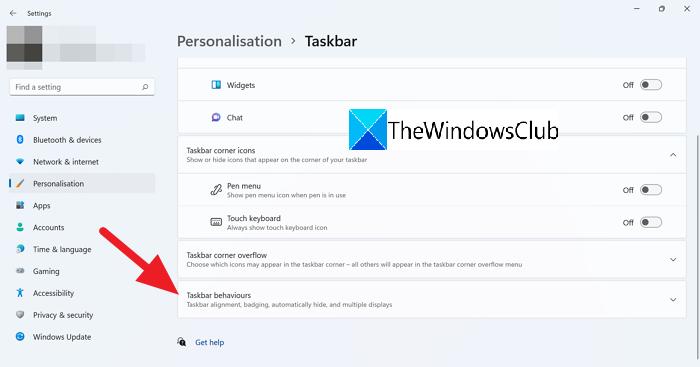 Comportamiento de la barra de tareas Windows 11