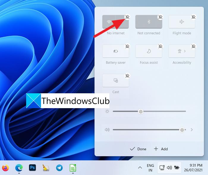 Desanclar un icono de la esquina de la barra de tareas