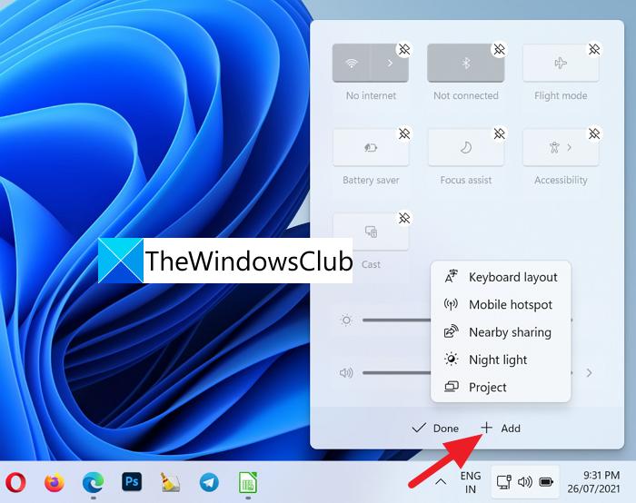Mostrar u ocultar iconos en el área de desbordamiento de la esquina de la barra de tareas en Windows 11