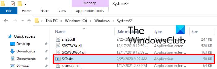 donde srtasks.exe encuentra Windows 10