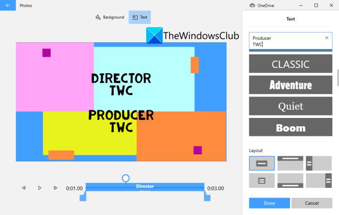 Cómo crear créditos de películas en Windows 11/10