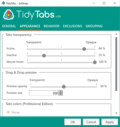 tidytabs-settings
