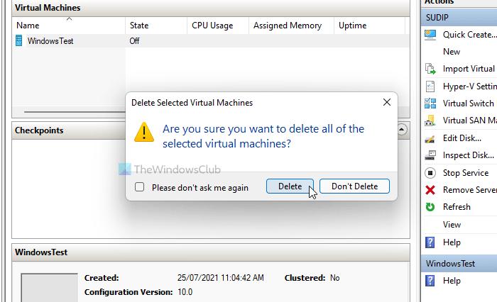 Hyper-V encontró un error al cargar la configuración de la máquina virtual