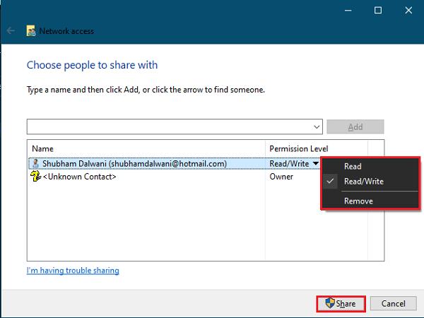 compartir-archivo-acceso a la red