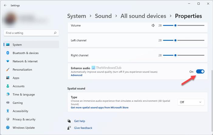 Cómo utilizar la función de mejora de audio en Windows 11