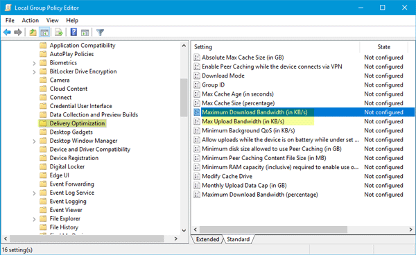 Cómo limitar el ancho de banda de Windows Update en Windows 10
