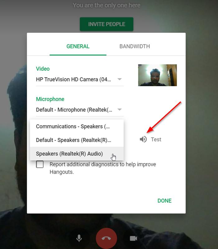 La llamada de audio o video de Hangouts de Google no funciona