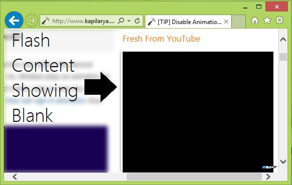 Flash no funciona en Internet Explorer 11