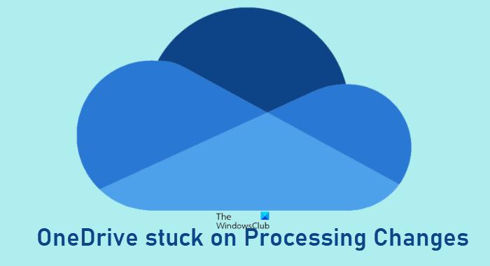 OneDrive atascado en el procesamiento de cambios