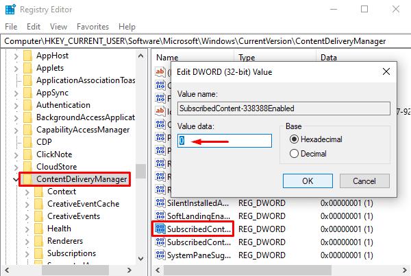 Deshabilite los anuncios de Microsoft Edge en el menú de inicio de Windows 10 usando el Registro