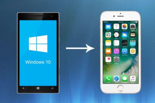 Cómo cambiar de un teléfono con Windows a un iPhone