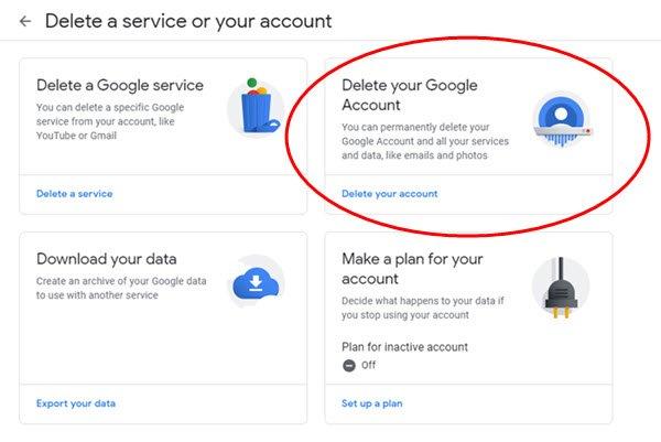eliminar cuenta de gmail