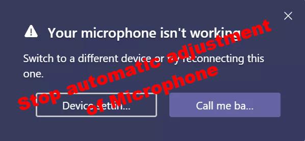 Detener el ajuste automático del micrófono