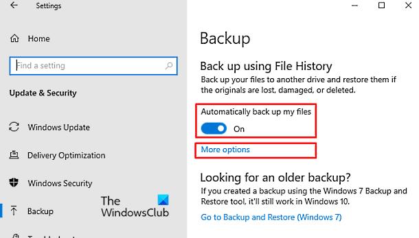 Cómo crear una copia de seguridad automática de archivos usando el historial de archivos
