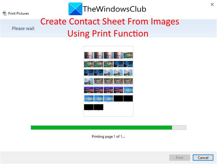 Cómo crear una hoja de contactos a partir de imágenes usando la función de impresión de Windows 10