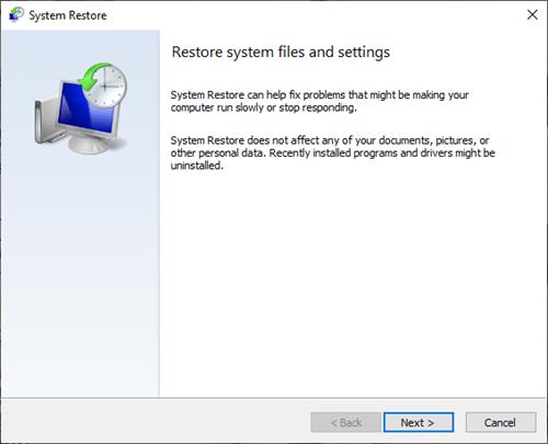 Realice la restauración del sistema cuando Windows 10 no se inicie en el escritorio